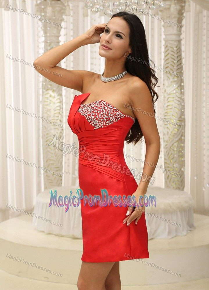 Hot sale beaded red mini prom cocktail dresses in bowling for Cocktail usa