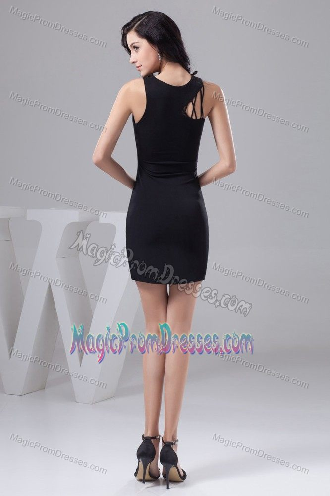 Sheath Scoop Short Prom Dresses in Elandsfontein Cut Out Straps Design