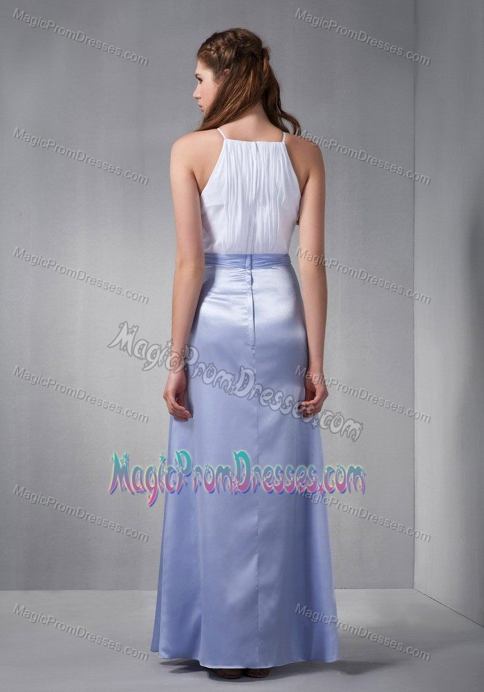White and Lilac Scoop Semi-formal Prom Dresses in Gettysburg PA