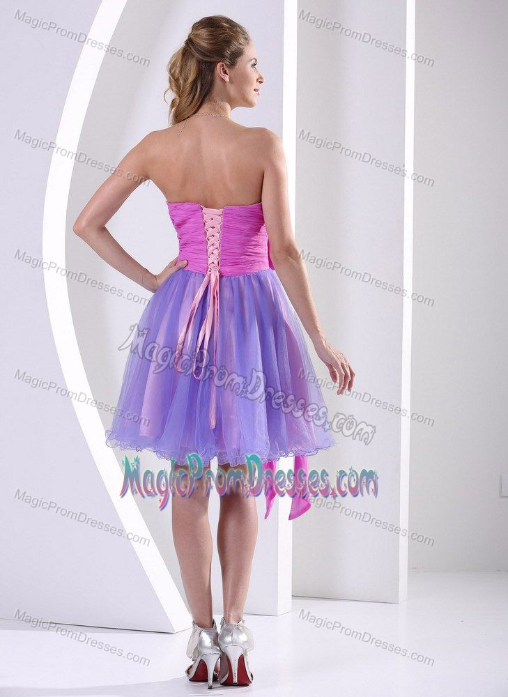 Organza Sweetheart Beaded Prom Gown for Petite Girls with Sash