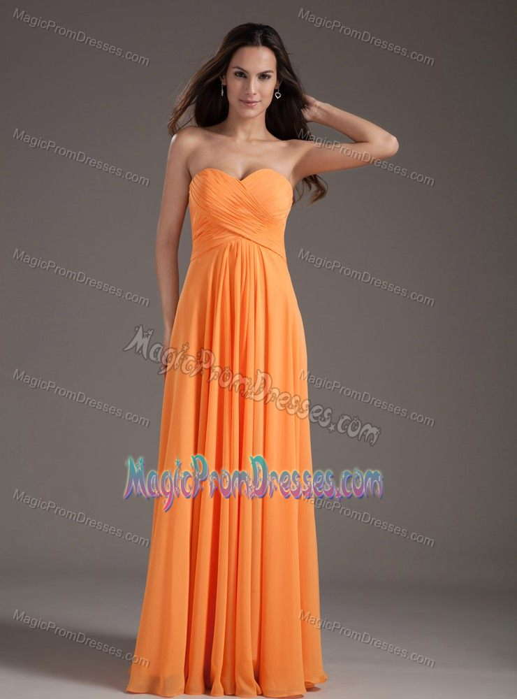 Sweetheart Ruched Long Semi-formal Prom Dress in Flower Mound