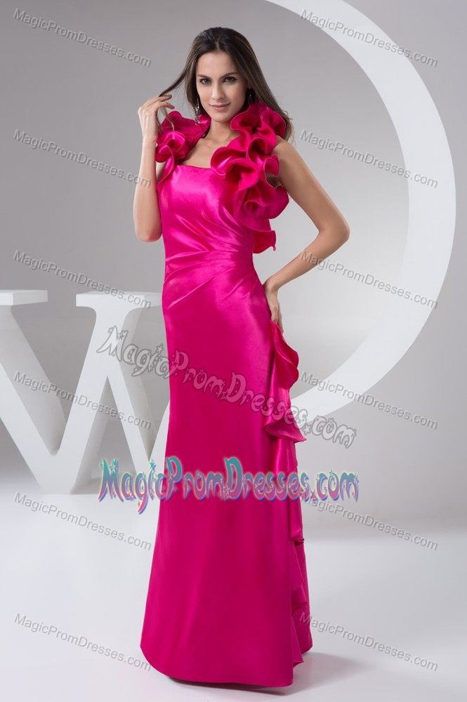 Hot Pink Halter Top Semi-formal Prom Dresses in Flower Mound TX