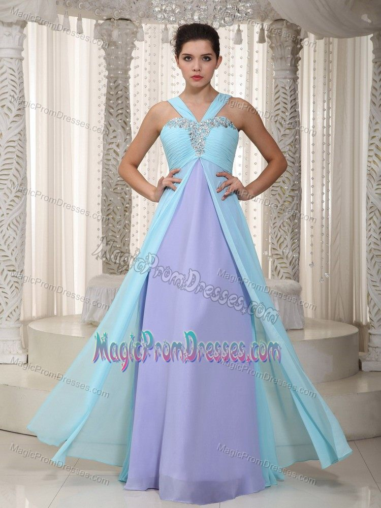Two Tone Evening Dress