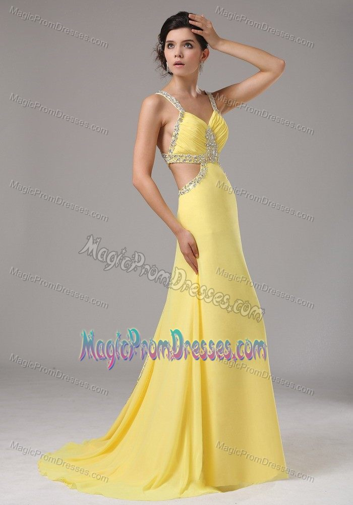 Yellow junior prom dresses dress ideas for Wedding dresses minot nd