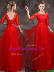 Latest Applique and Beaded Red Prom Dresses in Tulle and Lace