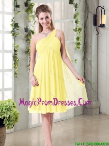 Lovely Inexpensive One Shoulder 2016 Prom Dress with Scarf