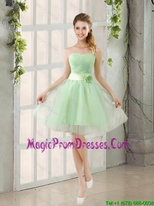2016 A Line Sweetheart Lace Up Prom Dress in Apple Green