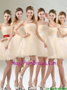 2016 Perfect A Line Organza Prom Dress with Mini Length