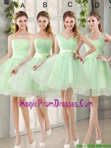 2016 Ruching Organza A Line Mini Length Prom Dress with Lace Up