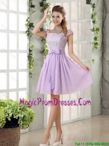 Chiffon 2016 Prom Dress with Ruching Bowknot