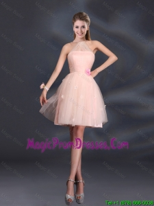 Tulle Appliques Mini Length 2016 Prom Dress with Halter