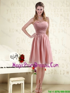 Fitted Sweetheart Empire Chiffon Prom Dress with Ruching
