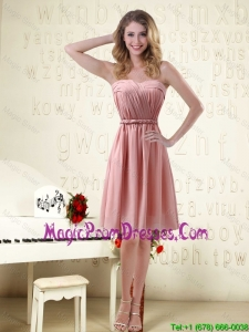 Sassy Sweetheart Ruched Prom Dress in Chiffon with Waistband