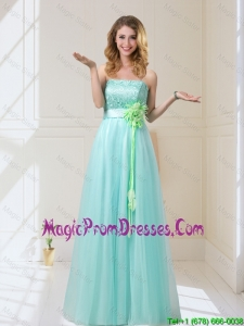 Sturning 2016 Empire Strapless Prom Dress with Hand Made Flowers