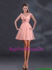 2016 Pretty Appliques and Ruffles A Line Prom Dress