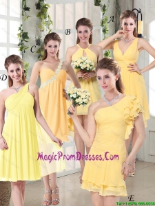 2016 Discount Fashionable Decorated Prom Dresses in Chiffon