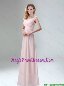 Beautiful Chiffon Prom Dress in Light Pink for 2016
