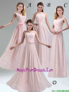 2016 Most Beautiful Chiffon Light Pink Empire Prom Dress with Ruching