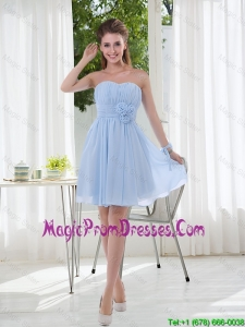 2016 Sweetheart Prom Dress with Ruching and Hand Made Flowers