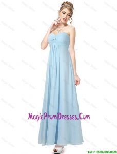 Cheap Ankle Length Sweetheart Prom Dresses in Light Blue