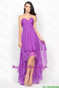 Empire Sweetheart 2016 Pretty Prom Dresses with Ruching in Chiffon