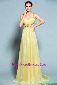 Perfect Empire Straps Prom Dresses with Beading