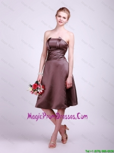 Classical Strapless Short Prom Dresses with Ruching