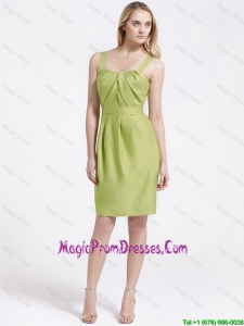 Most Popular Short Olive Green Prom Dresses with Belt