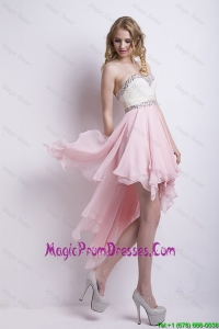 New Arrivals Sweetheart Beaded Prom Dresses with High Low