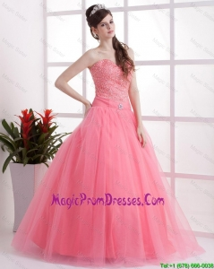 New Style A Line Sweetheart Prom Dresses in Watermelon