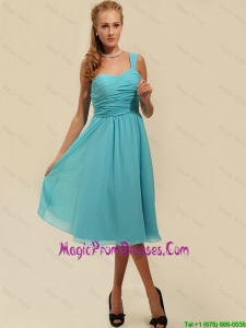 Perfect One Shoulder Ruching Knee Length Prom Dresses