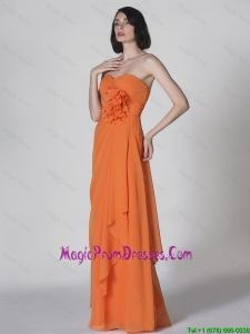 Popular Sweetheart Hand Made Flowers Prom Dresses in Orange