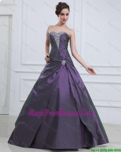 2016 New Style Princess Purple Prom Dresses with Beading