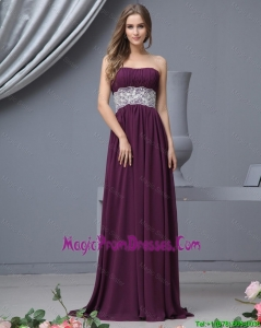 Pretty Strapless Laced Prom Dresses with Brush Train