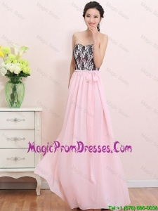 2016 Elegant Empire Sweetheart Laced Prom Dresses with Belt
