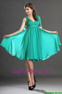 Fanastic Beading and Ruching Prom Dresses in Turquoise
