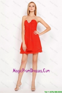 New Arrivals Sweetheart Beaded Side Zipper Prom Gowns in Red