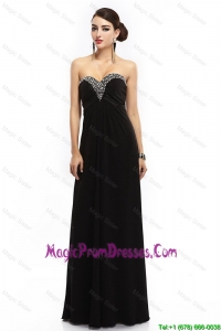 Perfect Sweetheart Beaded Black Prom Dresses with Lace Up
