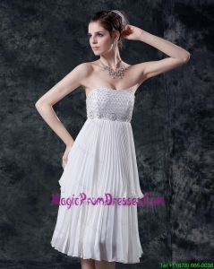 Pretty Empire Strapless Prom Dresses with Beading