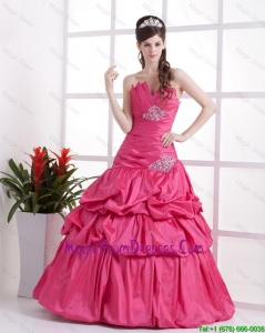 A Line Sweetheart 2016 Prom Gowns with Pick Ups and Beading