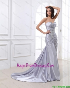 Popular Mermaid Sweetheart Brush Train Sequins Prom Dresses