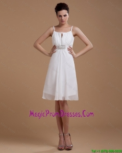 Most Popular Straps White Short Prom Gowns with Beading