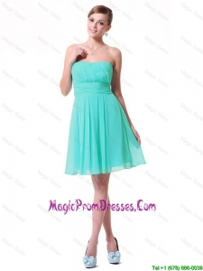 Discount Strapless Mini Length Prom Dresses in Turquoise