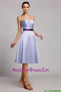 Modern Empire Sweetheart Short Prom Dresses with Belt for Homecoming