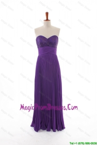 2016 Fall Empire Sweetheart Discount Prom Dresses with Pleat and Belt