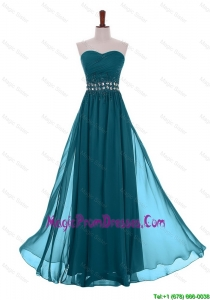 2016 Simple Empire Sweetheart Beaded Prom Dresses with Belt
