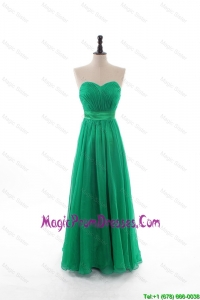 2016 Spring Empire Sweetheart Discount Prom Dresses with Belt