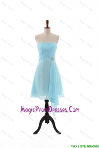 Discount Empire Strapless Ruching Prom Dresses with Beading for Holiday