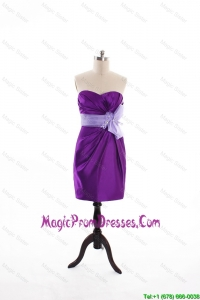 Perfect Column Sweetheart Beaded Prom Dresses with Hand Made Flowers