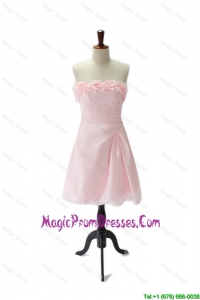 Brand New Hand Made Flowers and Ruching Baby Pink Prom Dresses
